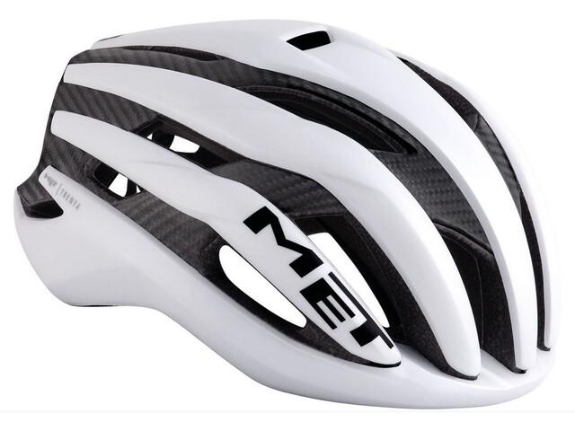 MET Trenta 3K Carbon Kask rowerowy, white